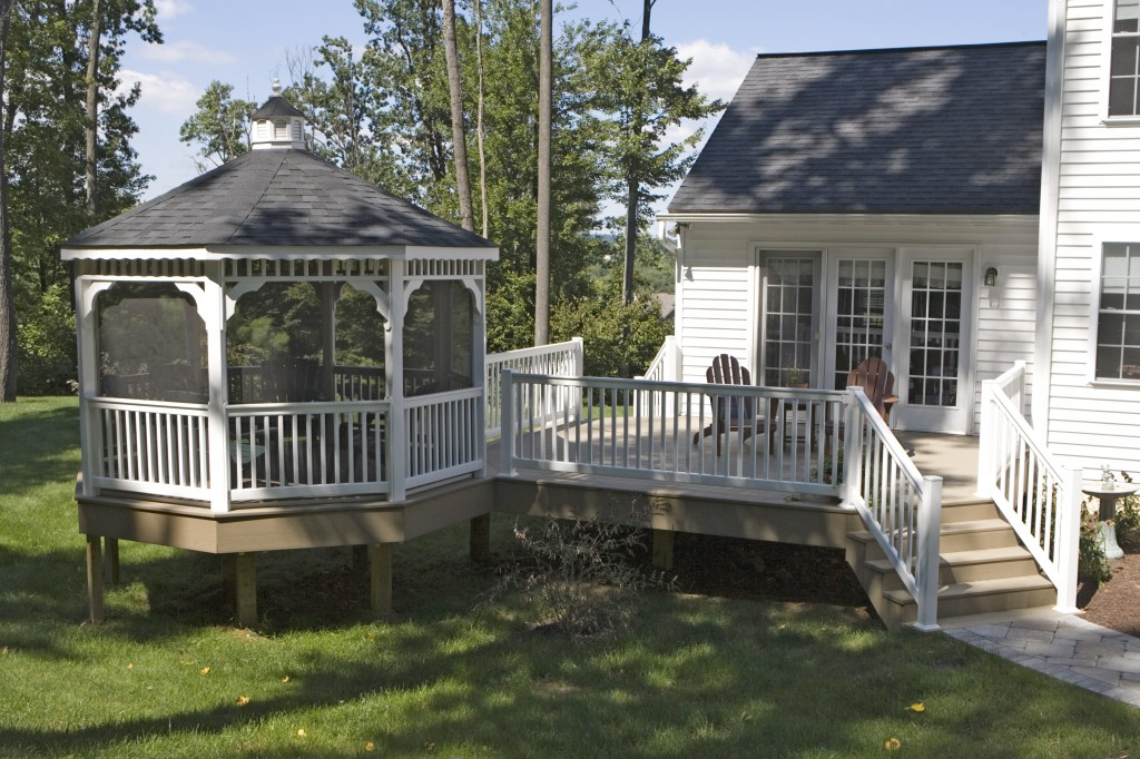 Deck Gazebos Vinyl Gazebo Deck Craft Plus Llc