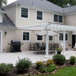Attached Vinyl Pergola