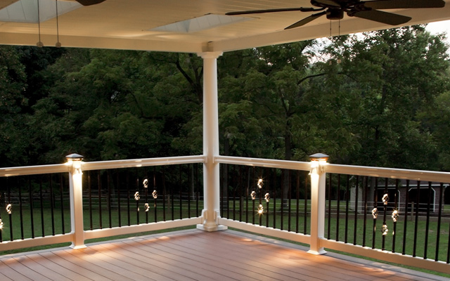 Deck accessories ideas railings lighting monograms benches railing lights aloadofball Image collections