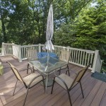 outdoor deck with furniture