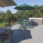 fully furnished vinyl outdoor deck