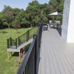two story vinyl deck and staircase