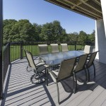 outdoor deck with vinyl railing