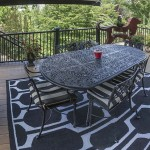 outdoor furniture on new outdoor deck