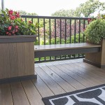 deck bench with attached flower boxes