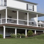 covered attached porch on residential home