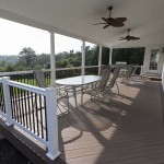 furnished faux wood azek deck on home