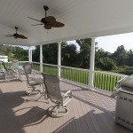 newly restored faux wood porch deck