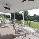 newly renovated oak and acacia home deck