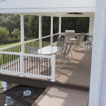 light tan azek home deck that is furnished
