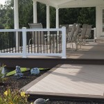 newly constructed tan azek deck