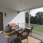 enclosed porch with clubhouse decking material