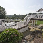 large outdoor deck and porch addition in chester county