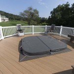 hot tub installed on new clubhouse detached deck