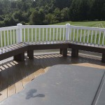 deck sitting bench on clubhouse deck