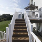 clubhouse staircase with deck lights built in