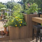 large attached clubhouse planter box on deck