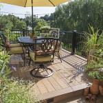 upper clubhouse deck furnished with outdoor patio table