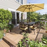 wrought iron table on clubhouse deck