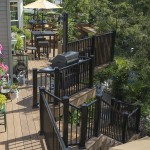 two story deck with railing