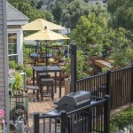 large outdoor deck seating area