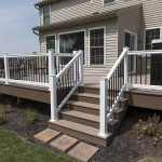patio staircase leading to attached deck