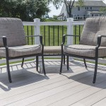 new home deck with patio chairs