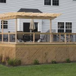 wooden treated deck