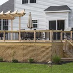 wooden residential deck