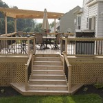 treated wooden deck