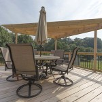 outdoor pressure treated wooden deck