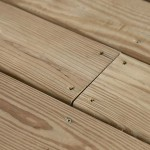 pressure treated wooden deck boards