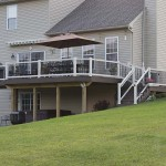 two story outdoor deck