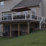 completed custom two story deck