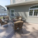 azek composite completed outdoor deck
