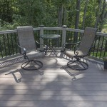 patio chairs on custom deck