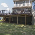 ground view of outdoor porch deck on stilts