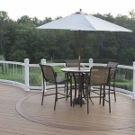 circular section of azek deck with patio table