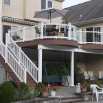 two story residential deck