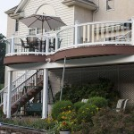 two story azek deck with staircase