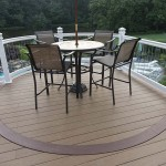finished two story azek vinyl deck