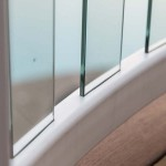 clear post baluster on white railing