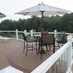 two story attached azek deck