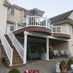 two story vinyl deck and patio