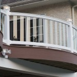 white vinyl railing with clear post balusters
