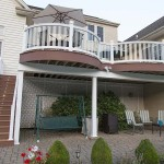 two story outdoor attached deck