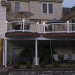 two story azek deck and pool patio