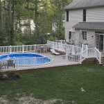 wolf deck pool patio attached to two story house