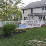faux wood pool patio deck