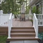 wolf decking stairs leading to pool deck